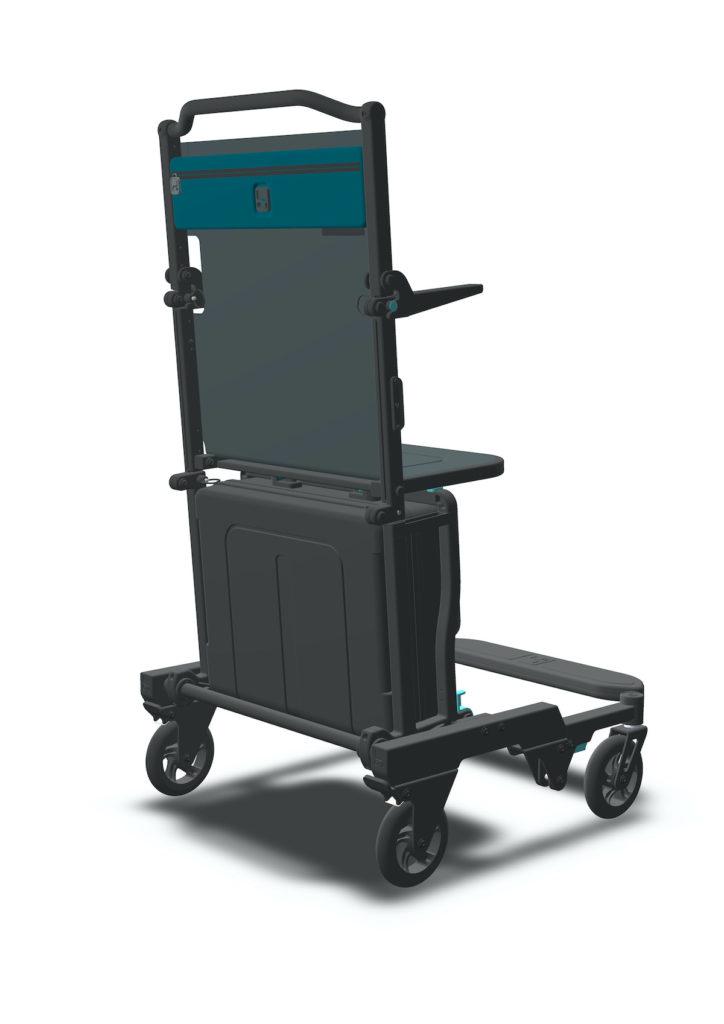 Digital mock up of Traveller Chair prototype.